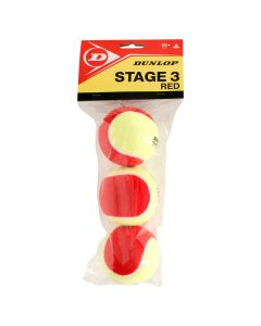 Dunlop Stage 3 Rood 3 st.